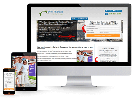 Mobile optimized real estate investing websites