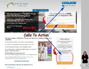 Conversion optimization calls to action
