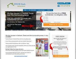 Interactive real estate investor websites